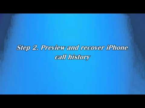 How to Recover Call History on iPhone