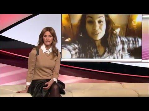 Mareile Höppner - Brisant HD - 11.03.2016 - Brown Blouse, Black Skirt, Nylons & Ankle Boots