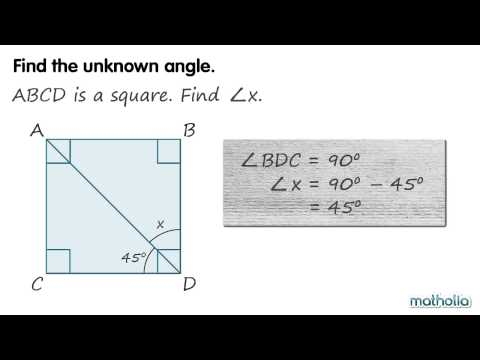 Finding Unknown Angles in a Square