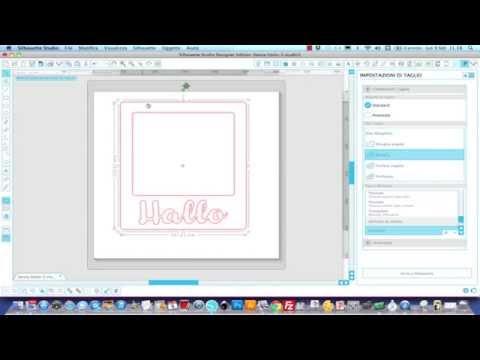 Video tutorial in italiano: come creare una cornice tipo polaroid con silhouette cameo