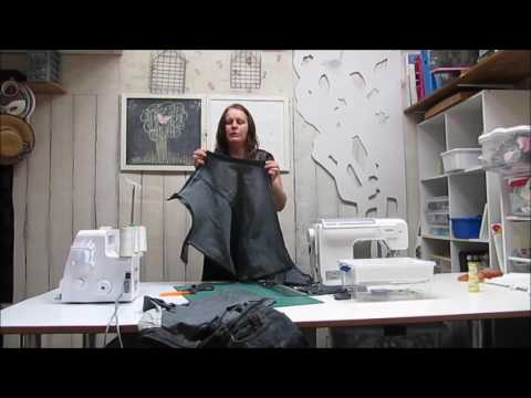 How to make an apron from jeans tutorial