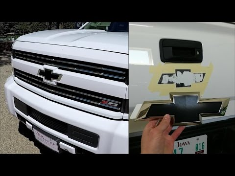 How To Remove/Install Black Bow Ties - 2017 2500HD Silverado