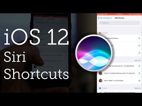 Siri Shortcuts for iOS 12