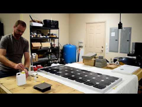 Fixing broken solar panel glass