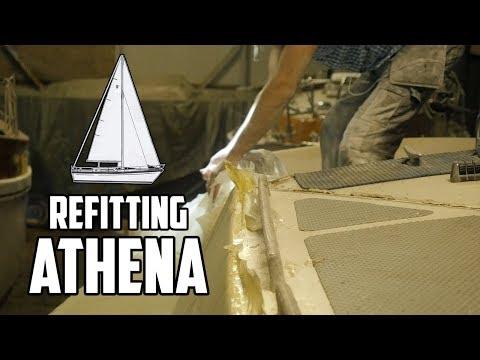 Sail Life - Sailboat deck replacement, fairing the deck - DIY sailboat refit