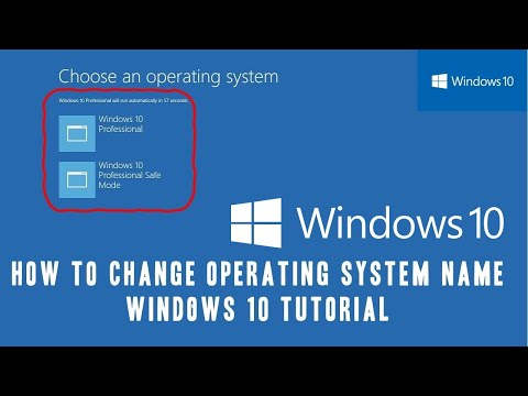 How to Change Operating System Name on Boot Menu | Microsoft Windows 10 Tutorial