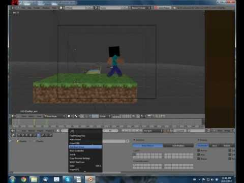 How to make 3D minecraft animations with blender