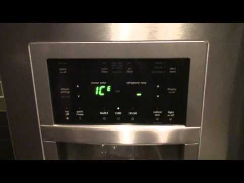 How To Adjust the Ice Cube Size on the Ice Dispenser of a Frigidaire Gallery Refrigerator