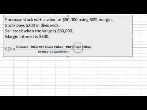 Return on investment using margin