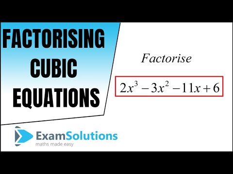 How to factorise a cubic polynomial (Method 1) : ExamSolutions