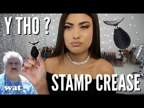 TESTING MAKEUP HACK: Stamp Cut Crease