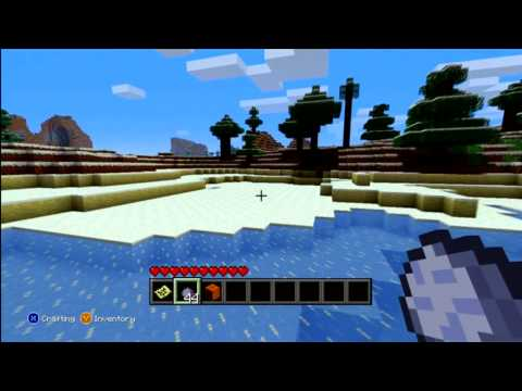 Minecraft Xbox 360 ``Big Snow Seed`` With Clay.