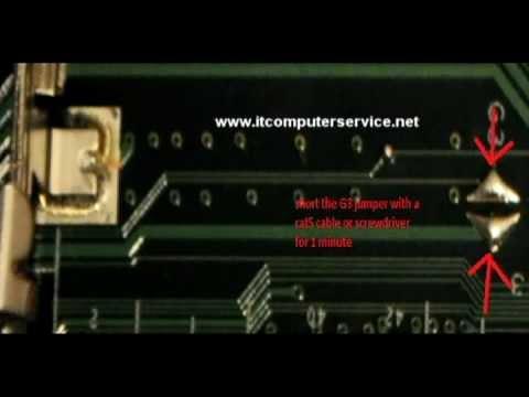 Toshiba Satellite P505D BIOS Password Removal
