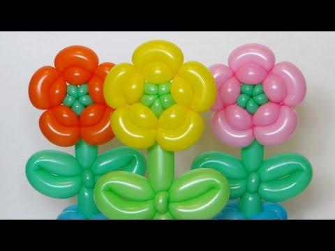 Цветок из шаров, пять лепестков / Five petals flower (Subtitles)