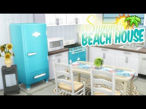 DREAMY TROPICAL BEACH HOUSE | The Sims 4: SPEED HOME BUILD (No CC)