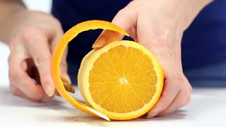 How to cut orange - orange peel trick