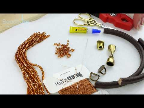 How to make this Leather and Tassel necklace | Seed Beads