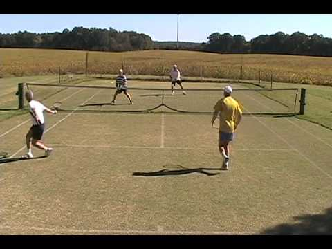 Grass Court Tennis - Roy with the Backhanded Volley