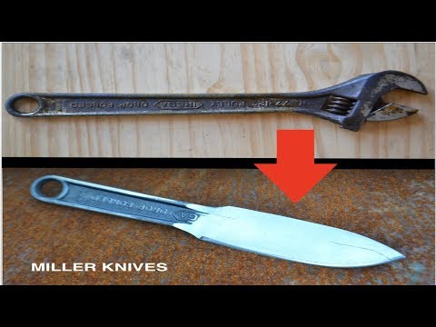 Transforming a Rusty Old Wrench into a Knife