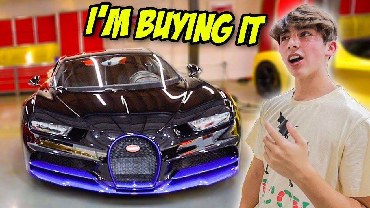 The Richest Kid In America Took Me Car Shopping... *Bugatti Chiron*