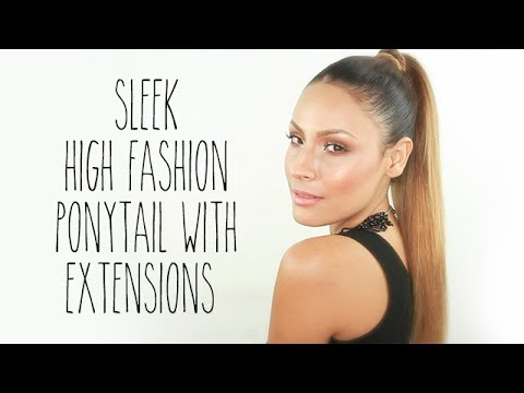 Sleek High Fashion Ponytail with Extensions