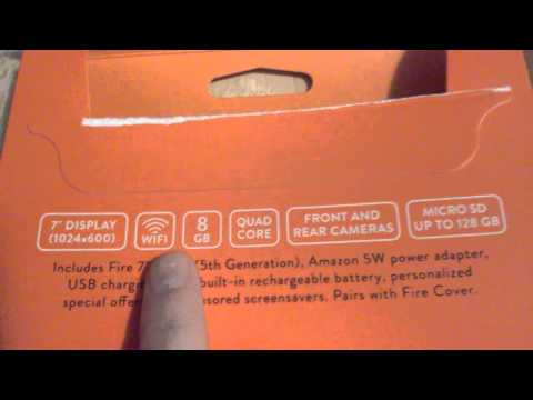 Unboxing a Kindle Fire HD 7 Tablet (5th gen) (newest)