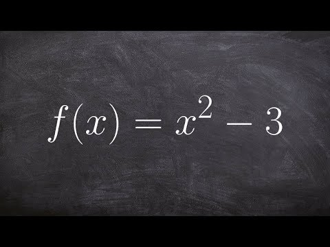 Learn how to step by step find the inverse of a quadratic function