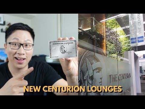 NEW Amex Centurion Lounges at LAX & DEN 2019