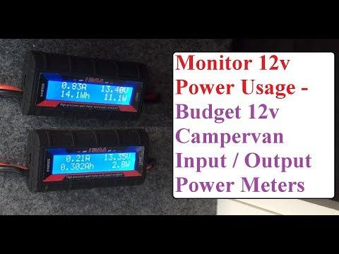 12v Power Watt Meter - Monitor 12v Appliance Power Usage In Campervan Or Home