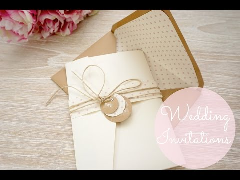 DIY Wedding Invitations - Cards & Pockets