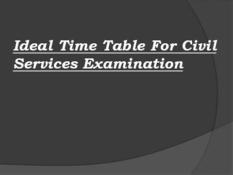 Ideal Time Table for UPSC Preliminary Examination