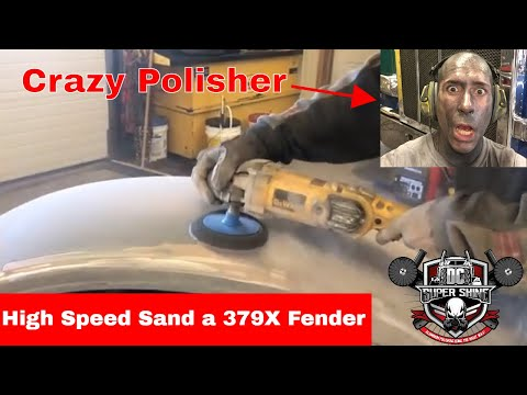 How To Polish a Painted 379X Pete Fender