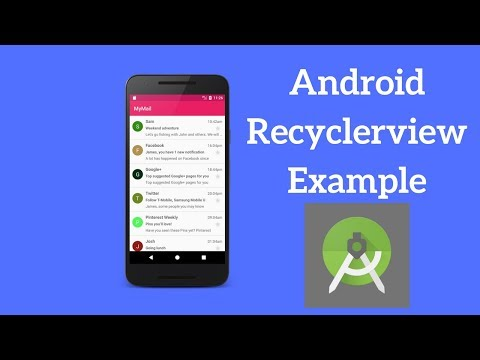 Android Recyclerview Example - Show List of Emails Using Recyclerview (Demo)