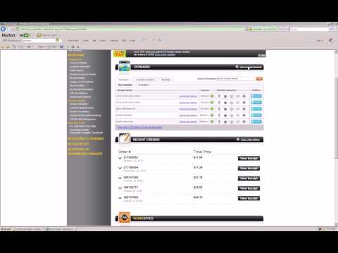 How to change the name servers from your domain registrar to your hosting account.