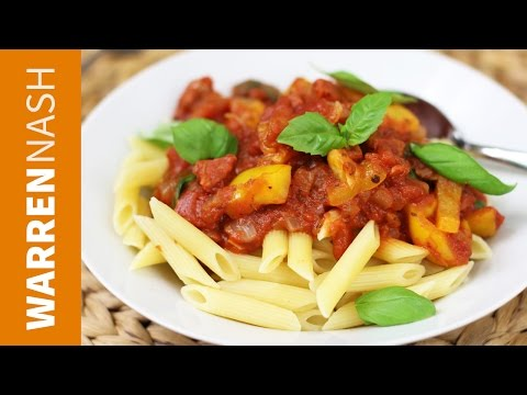 Tomato Pasta Recipe - Cooking with Tinned Tomatoes - Recipes by Warren Nash