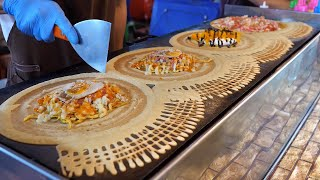 Thailand crepes with various toppings - Thai street food