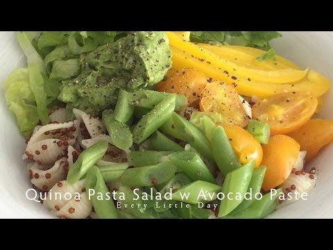 Quinoa Pasta Salad w Avocado Paste (Vegan) #04