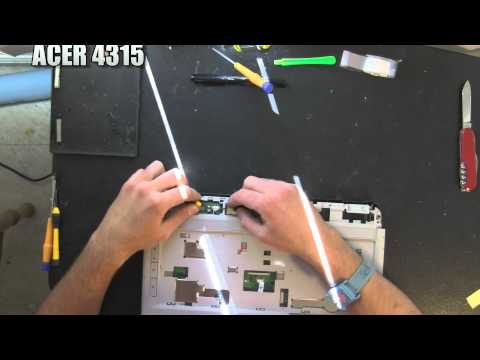 ACER ASPIRE 4315 laptop take apart video, disassemble disassembly