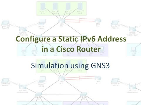 Configure a Static IPv6 Address in a Cisco Router
