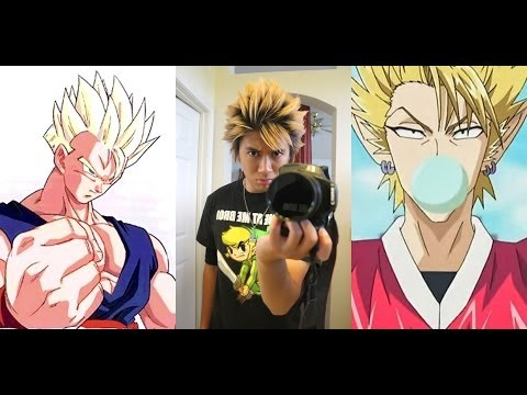 Anime Hairstyle Gohan and Hiruma Hairstyle Tutorial