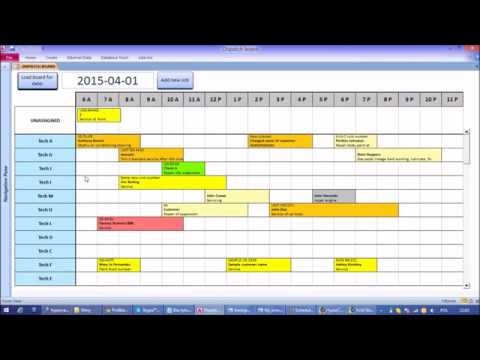 Microsoft Access Interactive Work Load and Capacity Planner