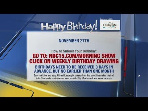 Birthdays for November 27th
