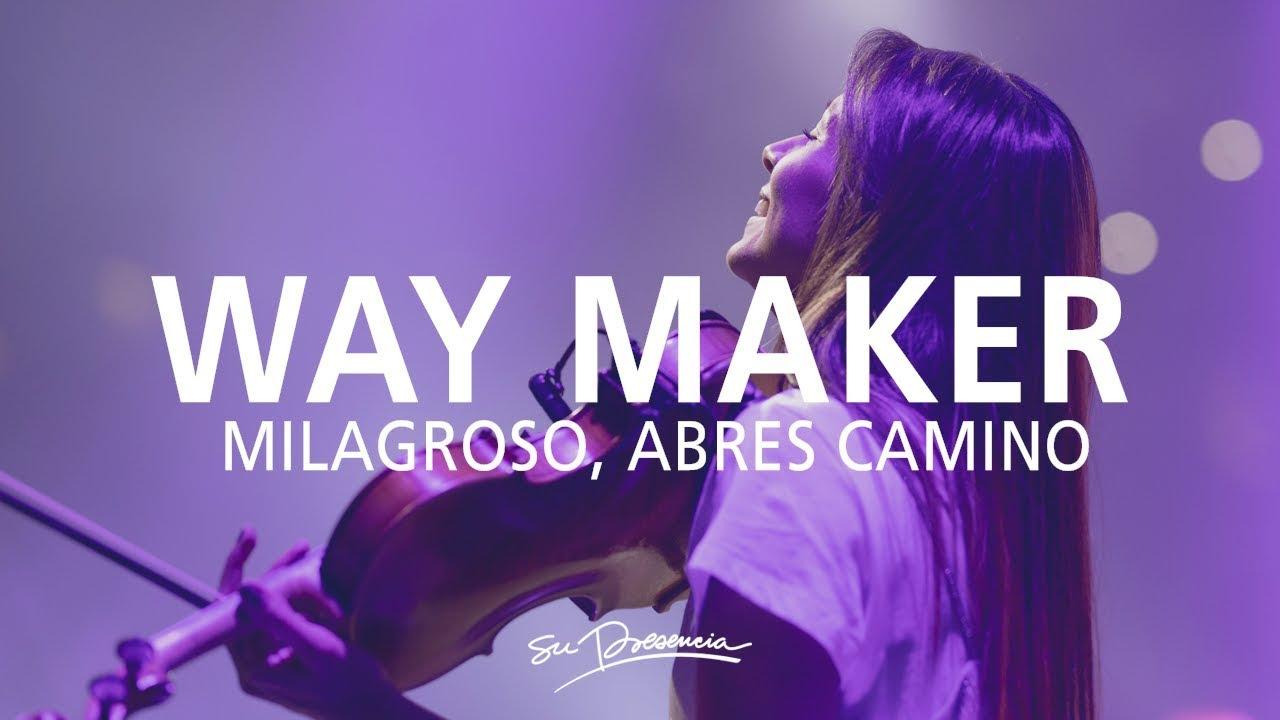 Milagroso, Abres Camino / Aquí Estás -@Su Presencia (Way Maker -Sinach) - Español   Música Cristiana