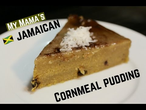 My Mama's Jamaican Cornmeal Pudding | Hello Sweet Biscuit