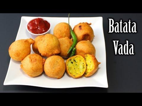 Batata Vada Recipe | Potatoes Chickpeas Flour Fritters Recipe | How to Make Batata Vada
