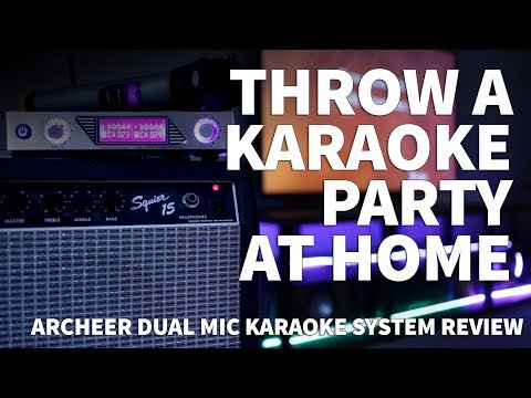 How to Throw a Karaoke Party at Home – Karaoke Night with Archeer Dual Wireless Microphone System