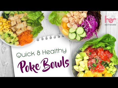Healthy & Easy Poke Bowls (3 Ways!) | Clean Eating | Joanna Soh