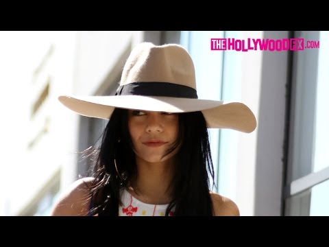Vanessa Hudgens Keeps A Low Profile Leaving Rebecca Minkoff 9.17.15 - TheHollywoodFix.com
