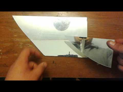Cutting mirror/ glass with a glass cutter tool