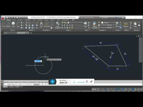 How To plot an irregular area in Auto CAD.